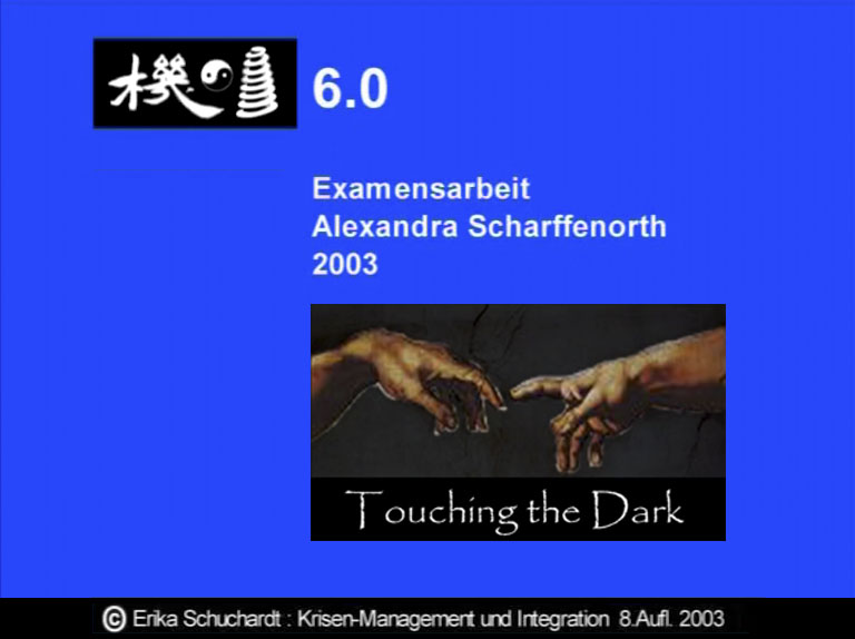 KMI 01 - Examensarbeit A. Scharffenorth - Touching the Darkness - Integration: lehr- und lernbar 2003