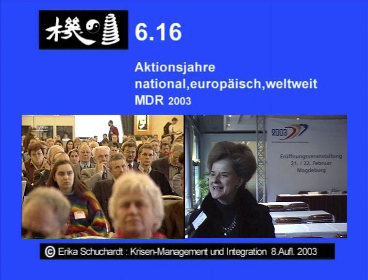 KMI 19 - Aktionsjahre national, europäisch, weltweit MDR 2003
