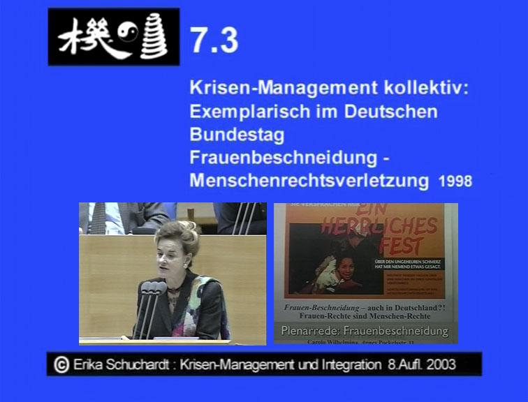 KMI 22 - Frauenbeschneidung Krisen-Management kollektiv, exempl. im Dt. Bundestag