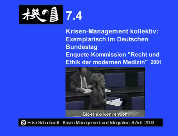 """KMI 23 - """"Recht und Ethik der mod. Medizin"""" Krisen-Management kollektiv, exempl. im Dt. Bundestag"""